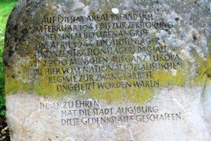 Gedenkstein KZ-Lager Augsburg-Haunstetten