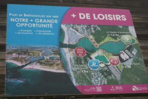 Brétignolles in der Vendée Hafenprojekt