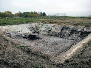Auf dem Gelände des KZ Gablingen gab es auch ein Löschwasserreservoir