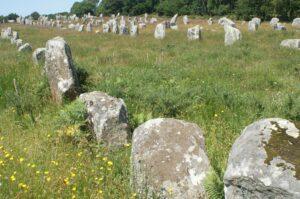 Feld mit Hinkelsteinen in Carnac
