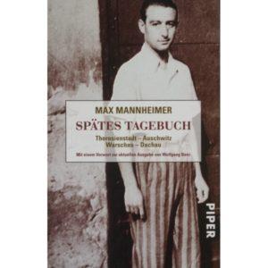 Cover Max Mannheimer Spätes Tagebuch