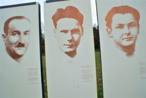 Erinnerungstafeln an 3 ermordete Widerstandskämpfer Camp Choisel Châteaubriant