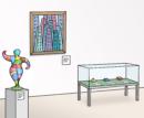 Ausstellungsraum in einem Kunstmuseum
