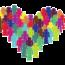 Herz aus Menschen in verschiedenen Farben